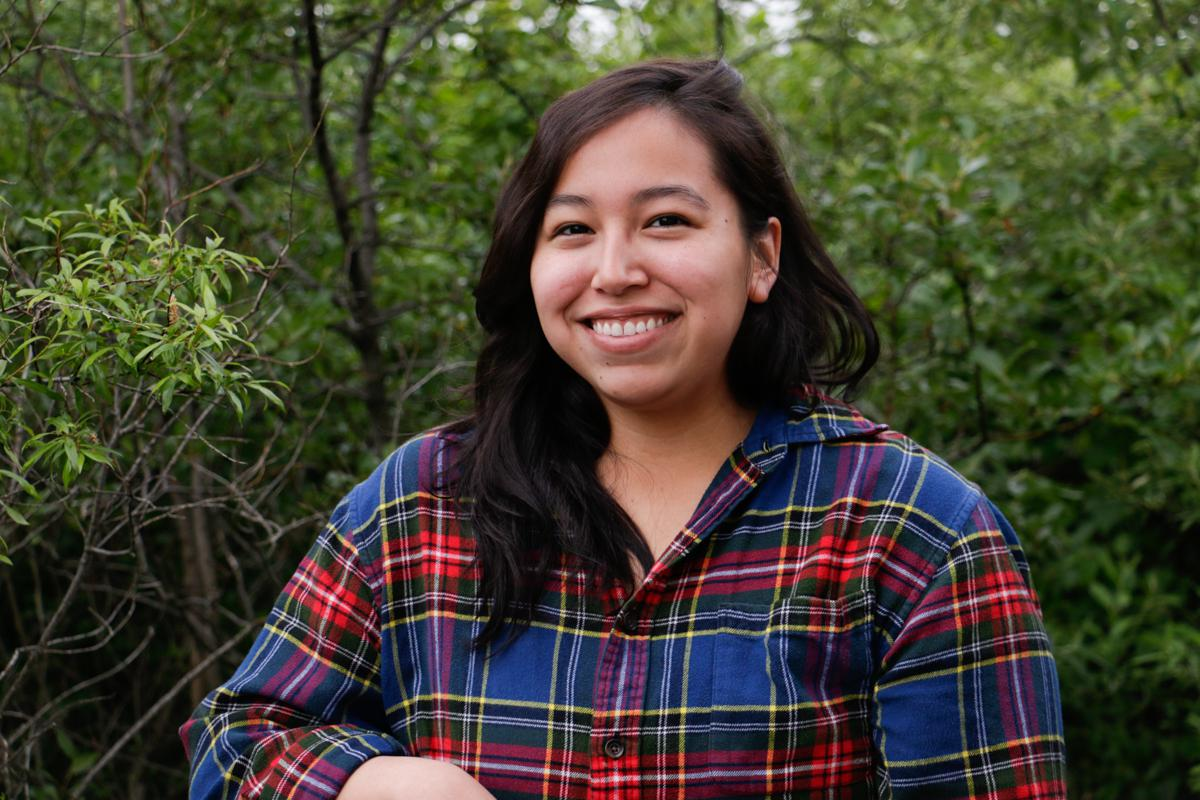 Jasmine Gil, originally from Bethel, is studying the effects of wildfires on permafrost with the Polaris Project, 50 miles north of the Yukon-Kuskokwim hub. (Photo by Katie Basile/KYUK)