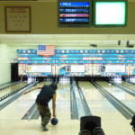 Wayne Fu Smallwood bowls at Taku Lane LLC on Saturday.