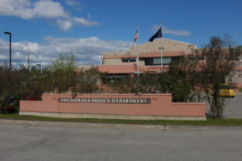 The Anchorage Police Department Building (Photo by Wesley Early/Alaska Public Media)