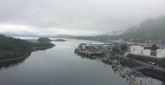 View from the Near Island Bridge. (Photo by Mitch Borden/KMXT)