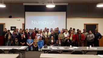 A provisional government was formed last Thursday at the Bethel Cultural Center. Over the last three days, and many long discussions, a treaty was signed to form the Provisional Nunavut Alaska Government to unite the 56 village tribes in the region. (Photo by Christine Trudeau/KYUK)