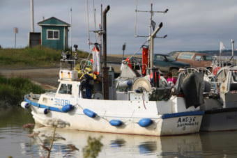 Police allege heroin was being trafficked from the Andy O, a Bristol Bay drifter tied up in the Dillingham Harbor. The vessel is pictured here Monday, after police boarded and arrested operator Andrew Olsen. (Photo by Avery Lill/KDLG)