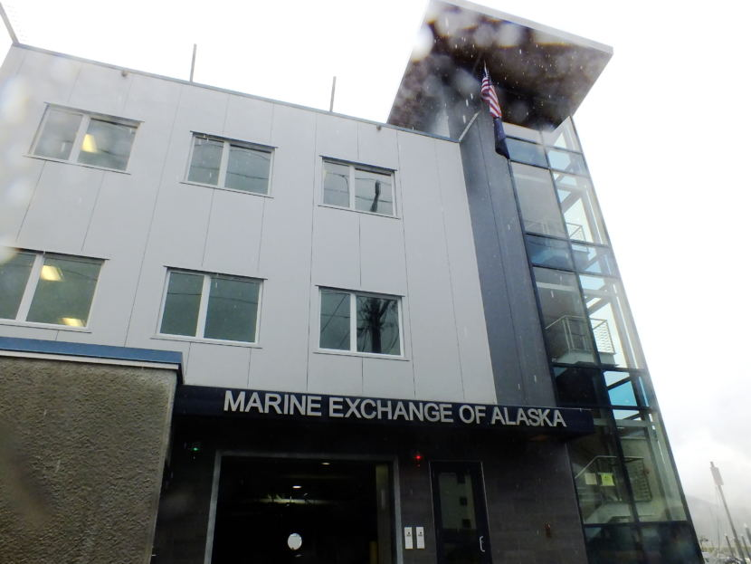 The new building for Marine Exchange of Alaska in downtown Juneau is adjacent to Harris Harbor.
