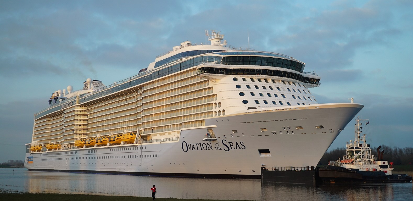 The 5000 Passenger Ovation Of Seas Begins Its 26 Mile Conveyance To