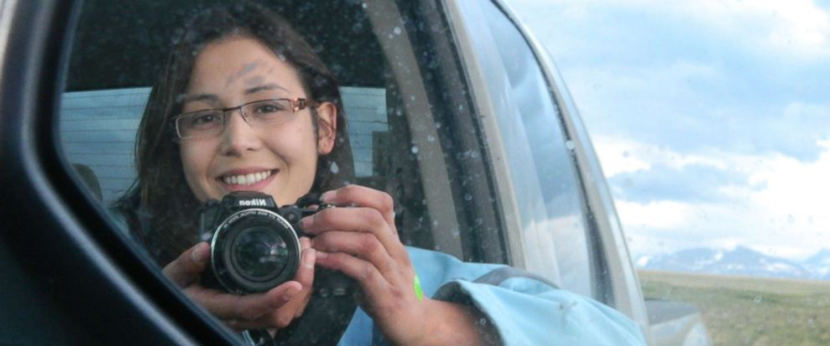 Ashley Loring bought a new camera and took this portrait of herself before she went missing from the Blackfeet Indian Reservation more than a year ago. (Photo courtesy of the Loring family)