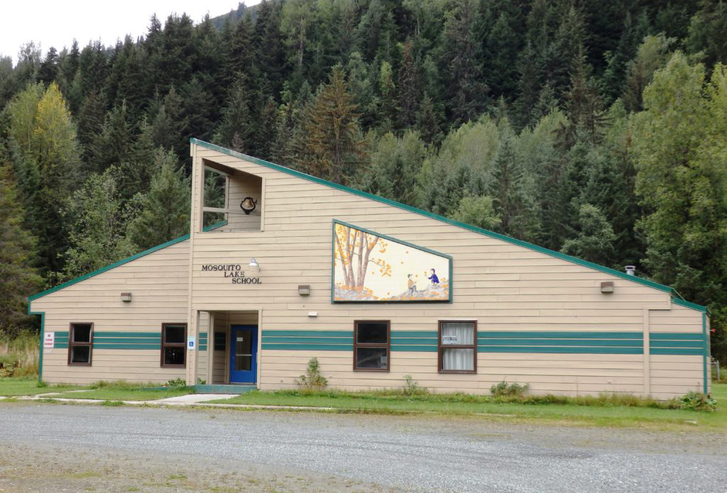 The Mosquito Lake School, now used as a community center. (File photo by Emily Files/KHNS)