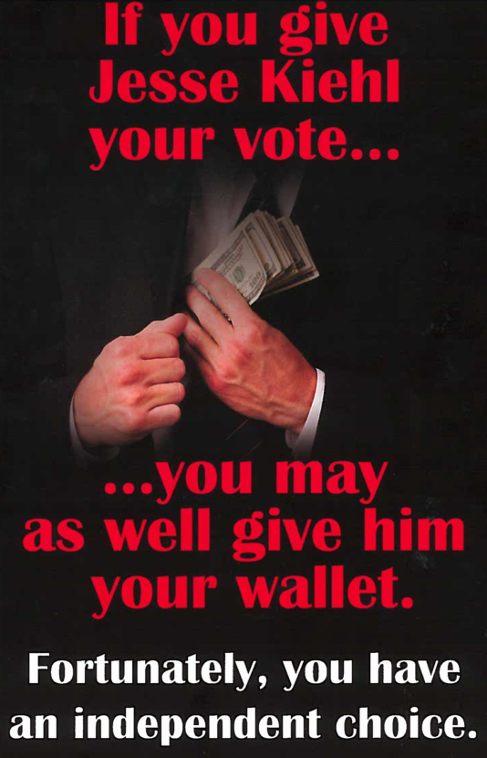 The front side of the mailer sent to Juneau voters last week by the Republican Women of Juneau. (Scan from mailer)