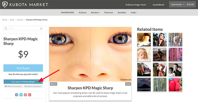 Try a Kubota effect from the Kubota Market in Photoshop