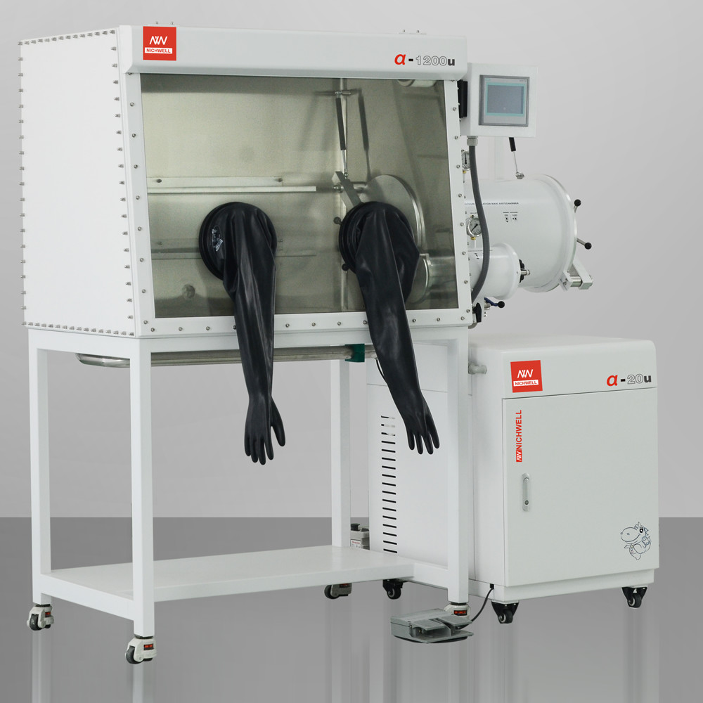 α-1200U Separated Inert Vacuum Controlled Atmospheres Glovebox