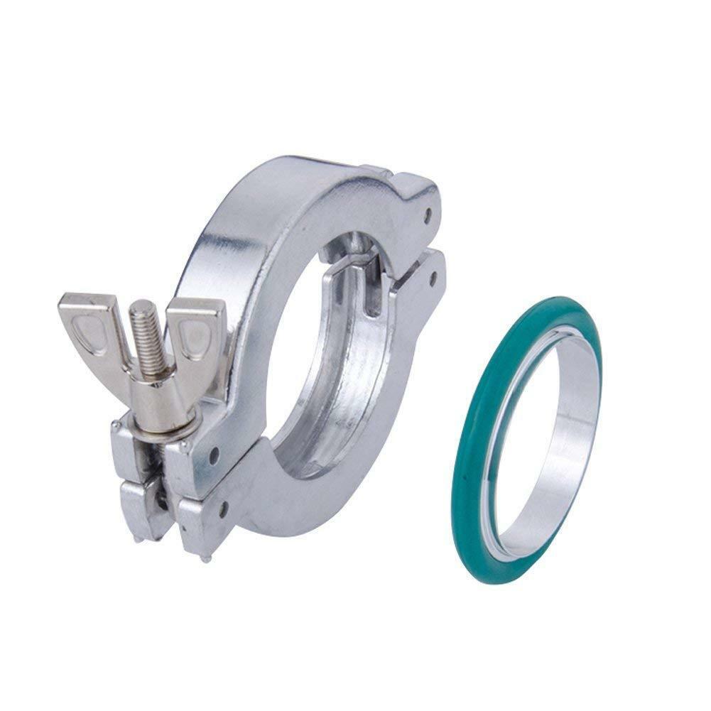 2 sets KF16 Aluminium Vacuum Clamp Ring + SS304 Centering Ring Viton O-ring