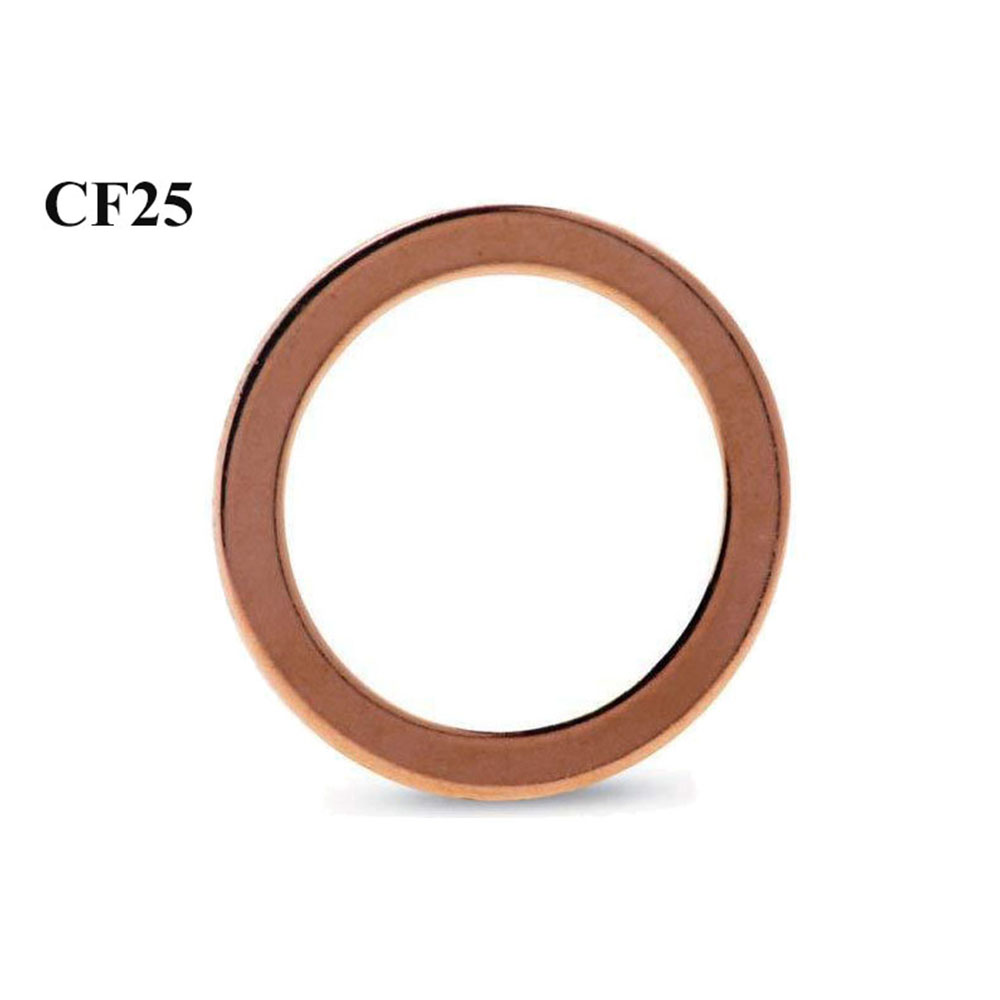 3 PCS CF25 Metric Copper Gaskets Sealing Ring Crush Washer For Vacuum System