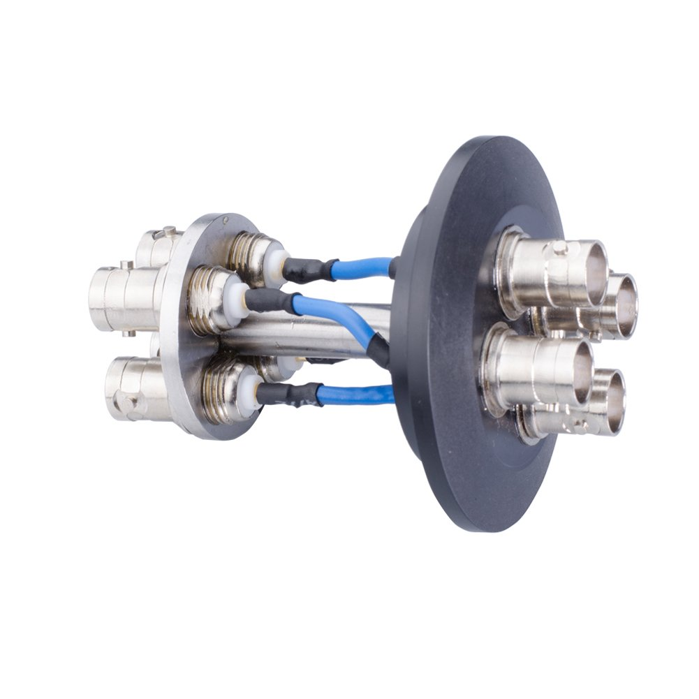 BNC Connector 4 Pin Double Sided KF / DN40 Glove Box Lab Equipped Part Consumer RF Cable Connetor