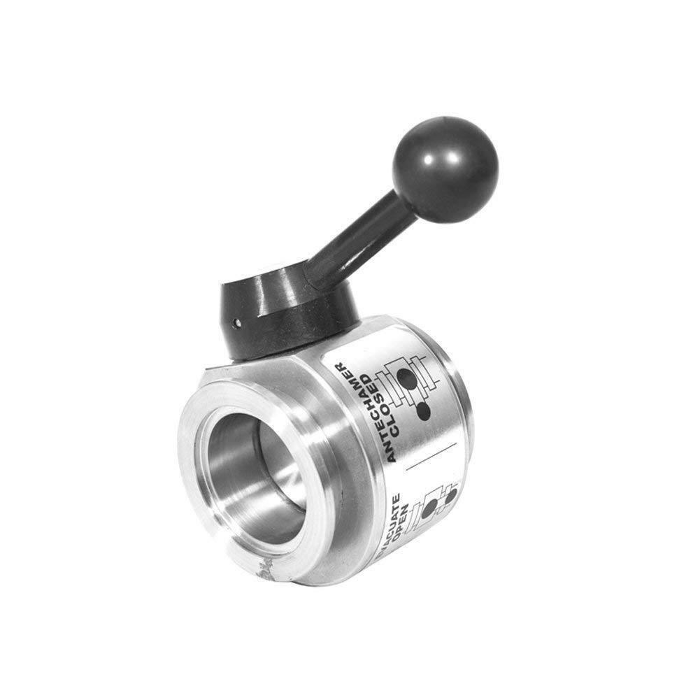 Ball Valve, Inline, Lever Handle, Manual, 304 Stainless Steel, ISO-KF50