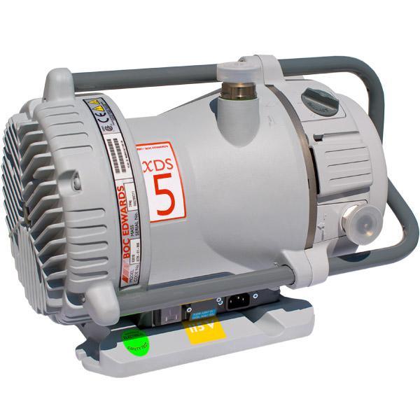 Edwards XDS5, 4 CFM (113 L/M) dry scroll pump, Inlet NW25, 1Ø, 115/230, 50/60 Hz, 45 mTorr Base Pressure