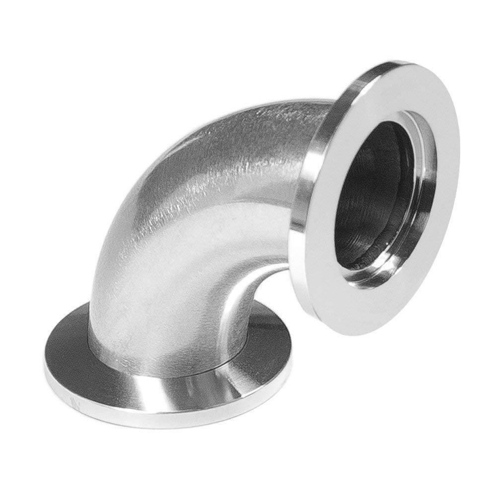 KF16 Flange Elbow 90 Degree Stainless Steel 304 vacuum Adapter