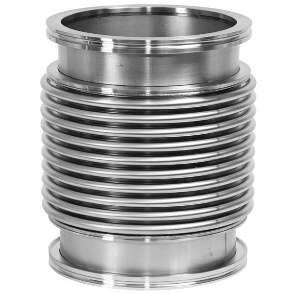 Flexible Bellows NW 160, 12 inch, 300 mm,  Vacuum Hose, ISO-LF Large Flange Size NW-160, Stainless Steel