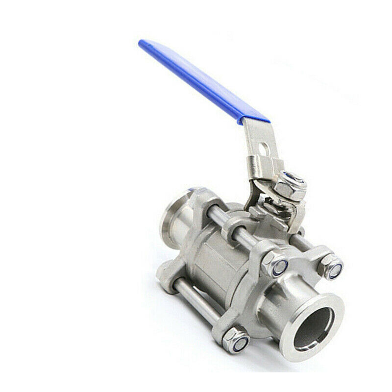 KF40 Ball Valve for Rough Vacuum Isolation, Both Sides Flange, SS