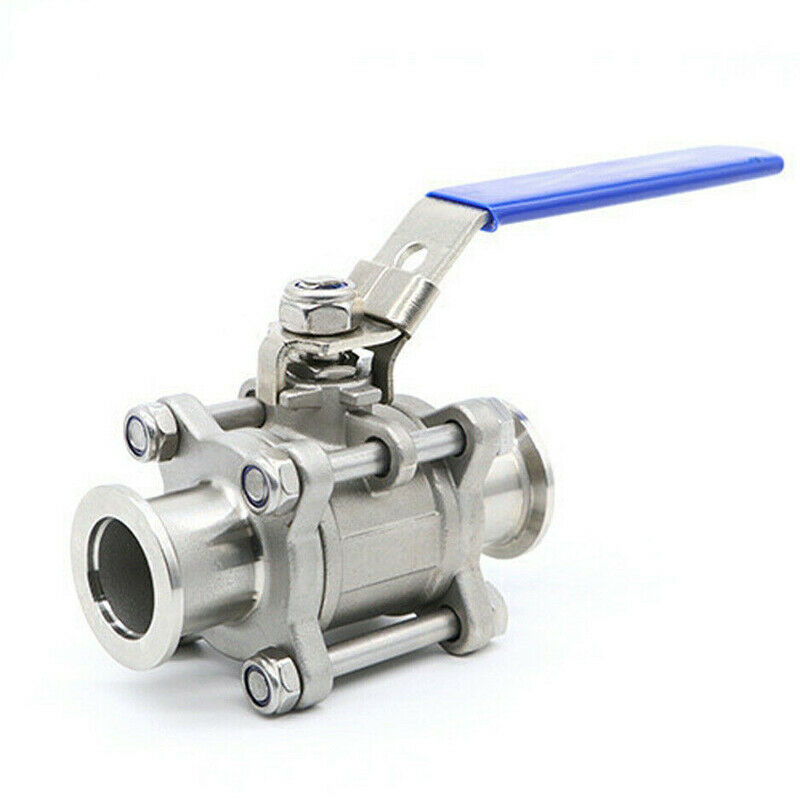 KF16 Ball Valve for Rough Vacuum Isolation, Both Sides Flange, SS