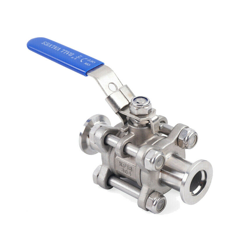 KF50 Ball Valve for Rough Vacuum Isolation, Both Sides Flange, SS