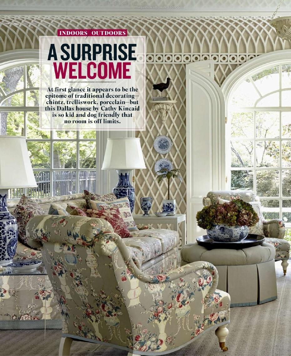 house beautiful april 2015 | leontine linens