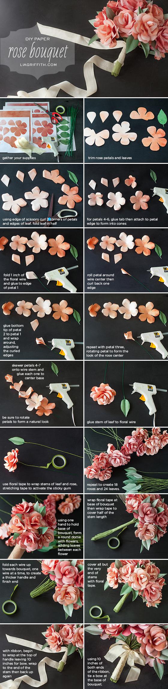 Как сделать красивый букет из бумаги своими руками