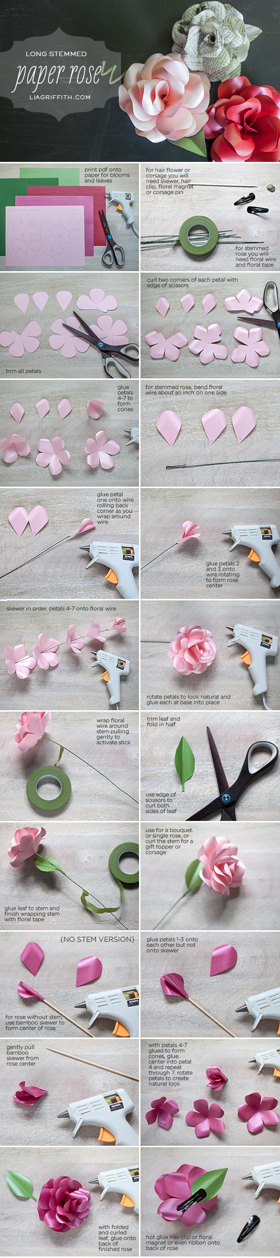 Как сделать розу из цветной бумаги своими руками поэтапно