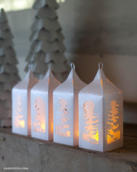 Бумажные новогодние фонарики своими руками