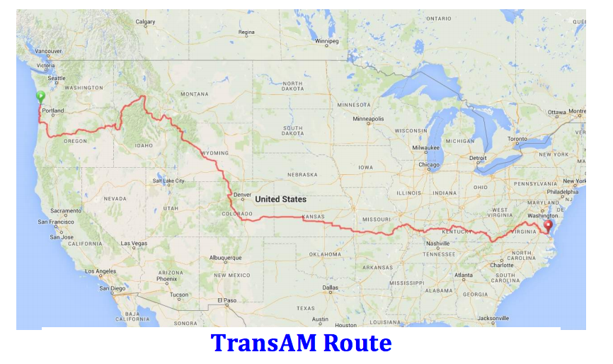 Joe Allen Rides The The TransAmerica Bike Race Aboard A Litespeed - Us bike route map