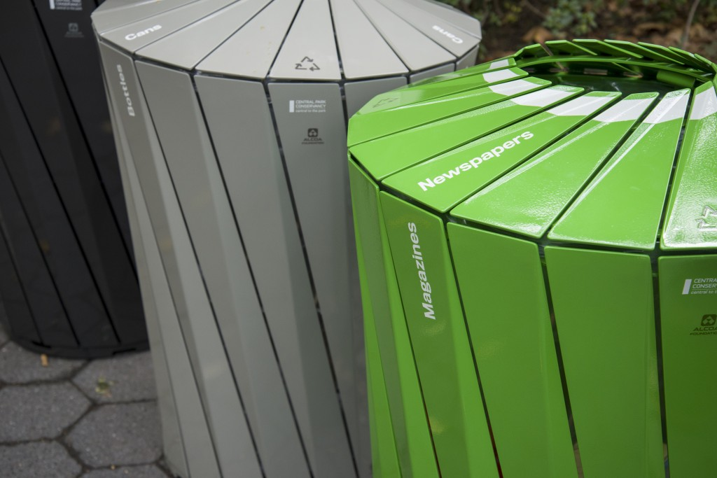 Landor's Central Park Conservancy Trash And Recycling Receptacles