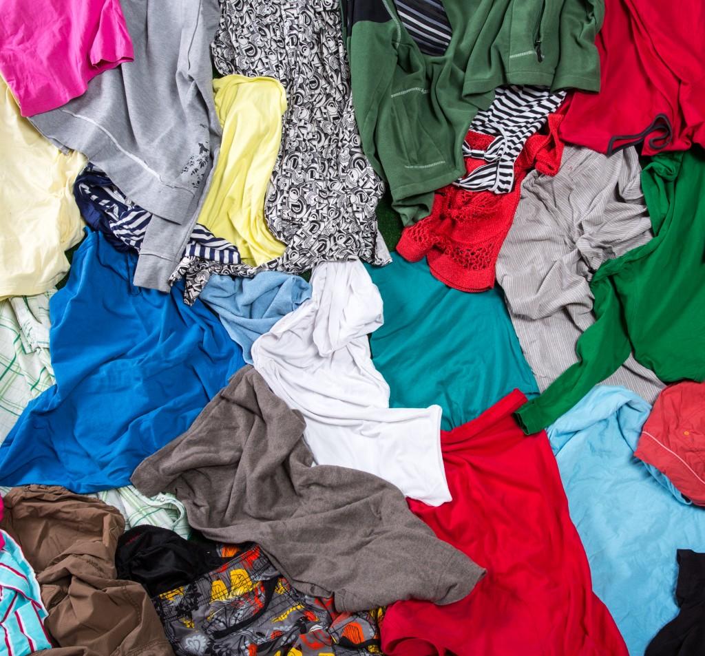 M&S Shwopping Clothing Pile