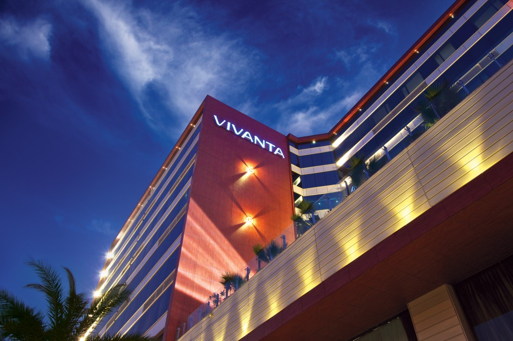 Facade of Vivanta Hotel, by Taj Group