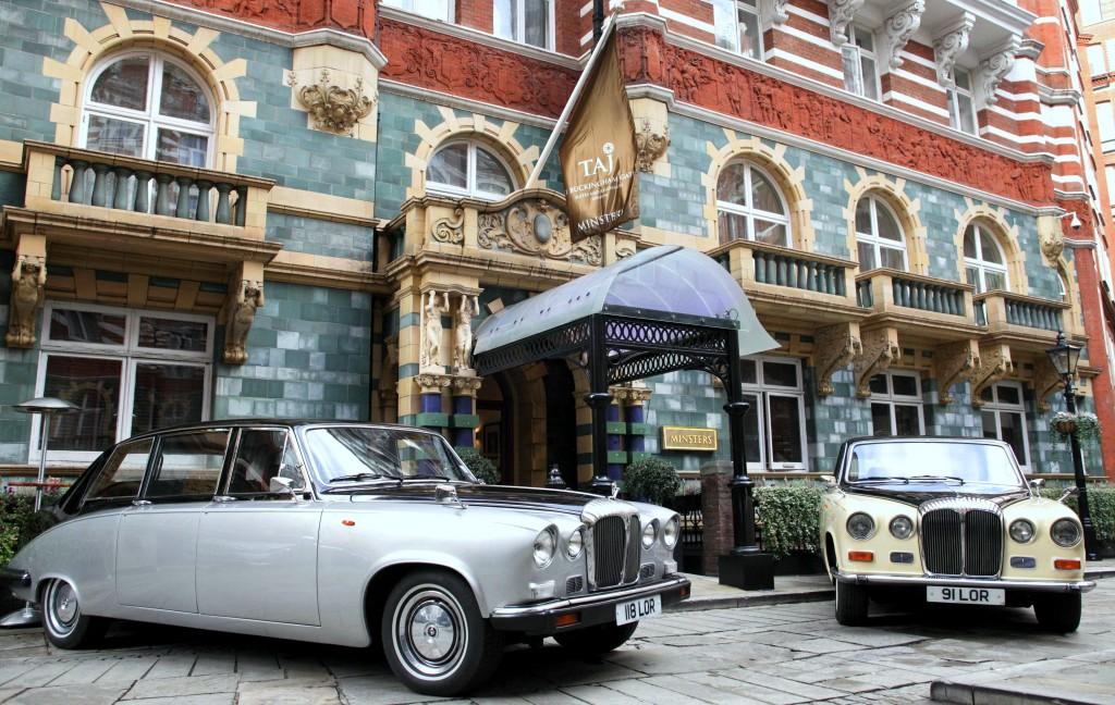 Vintage Daimler Outside Taj Group Hotel