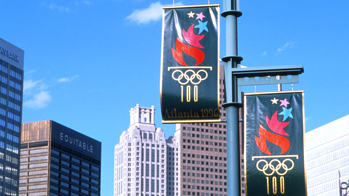 Landor at the Olympic Games Atlanta 1996 Flags