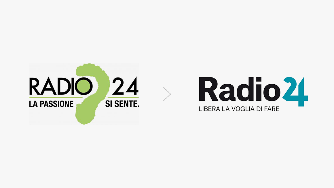 Radio 24 identity before after
