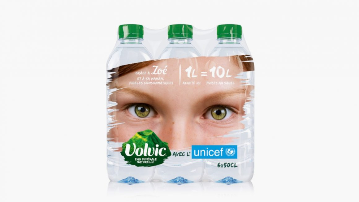 Volvic Unicef Packaging