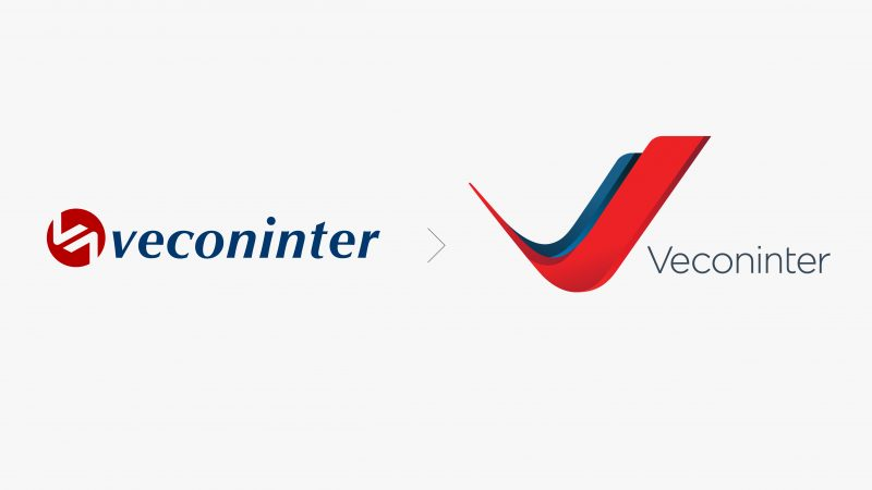 Veconinter logo before and after