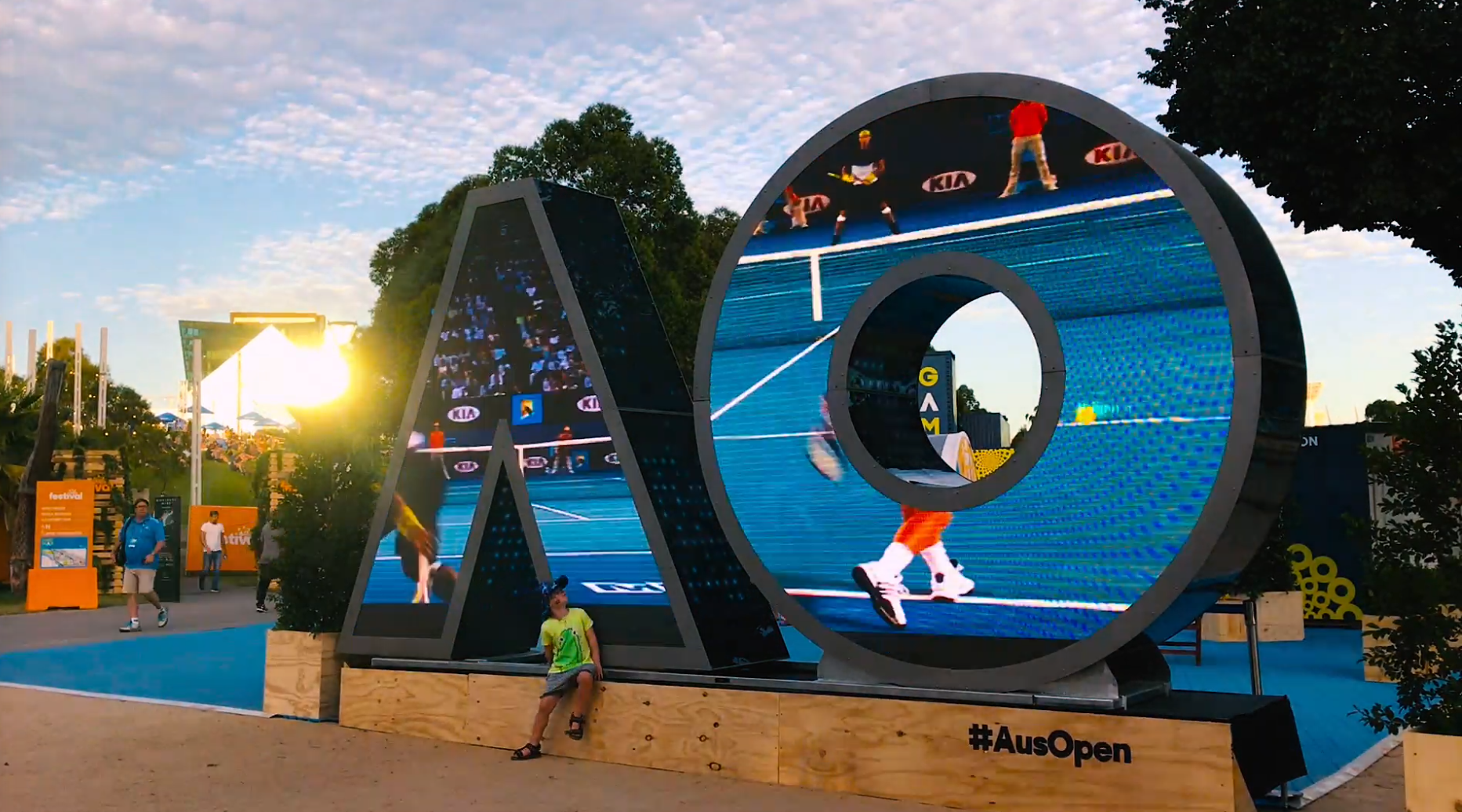 Australian Open Installation for Local Brands