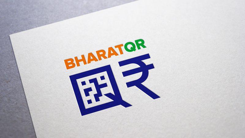 Bharat QR visual identity on stationery