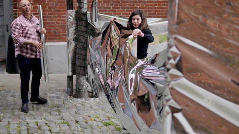 Wanda installation experimenting with mylar