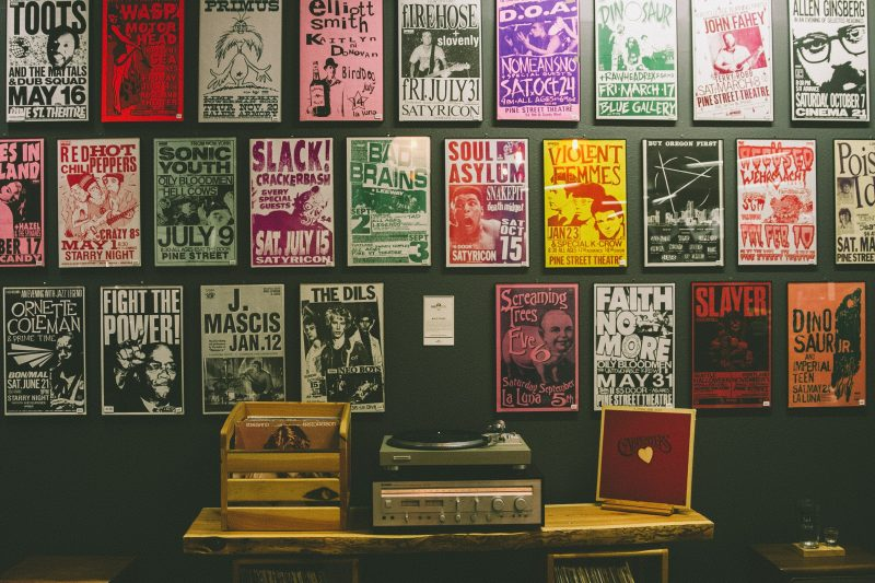 Wanda creativity intro: posters and album covers on wall