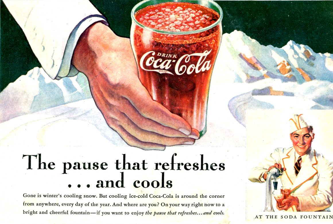 Old Coca-Cola Poster Showing How Brand Governance Has Changed
