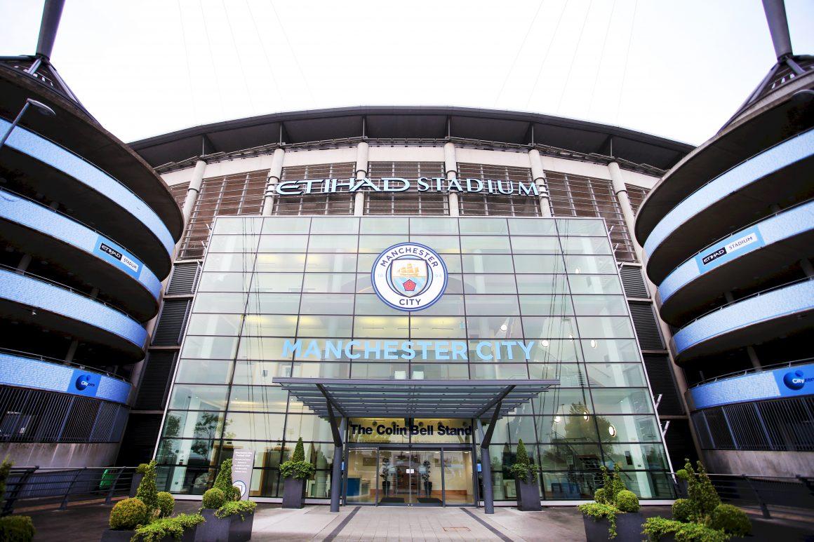 Sports brands rebranding: Manchester City identity on Etihad Stadium