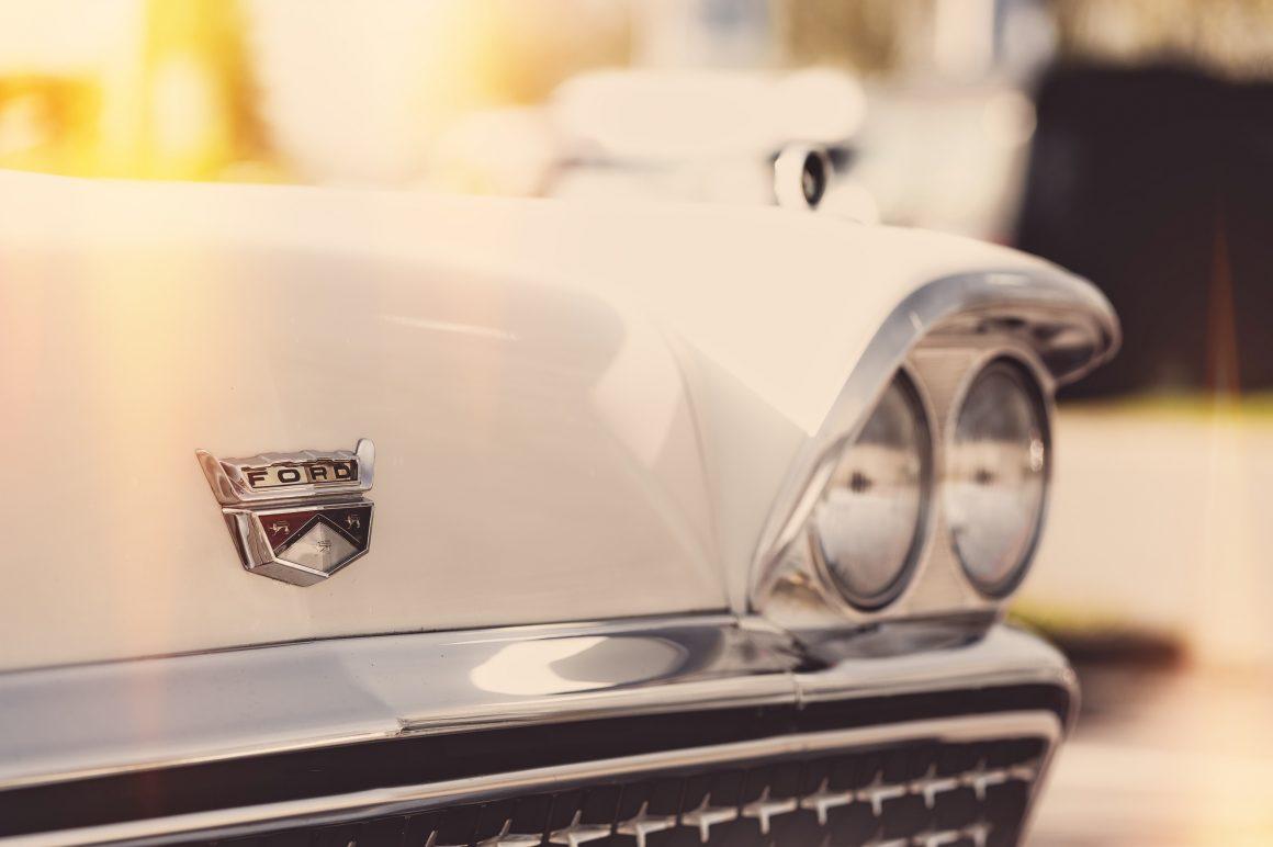 Ford car brand close up
