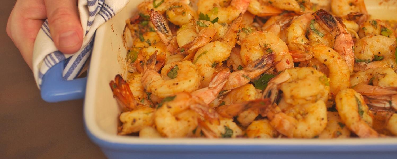 Baked shrimp with honey   ginger