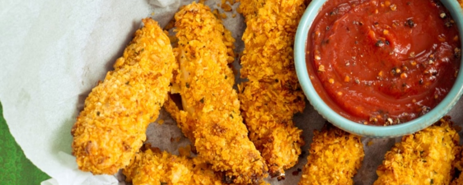 Double crusted chicken tenders