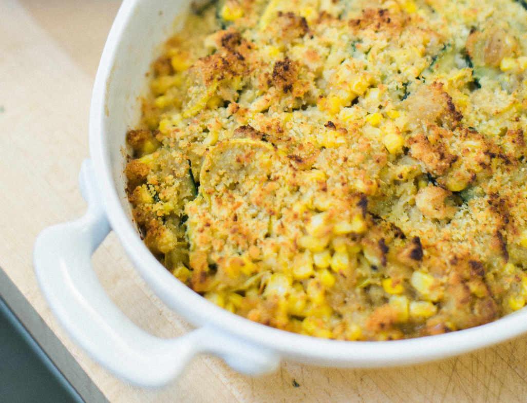 Squash   kernel corn casserole