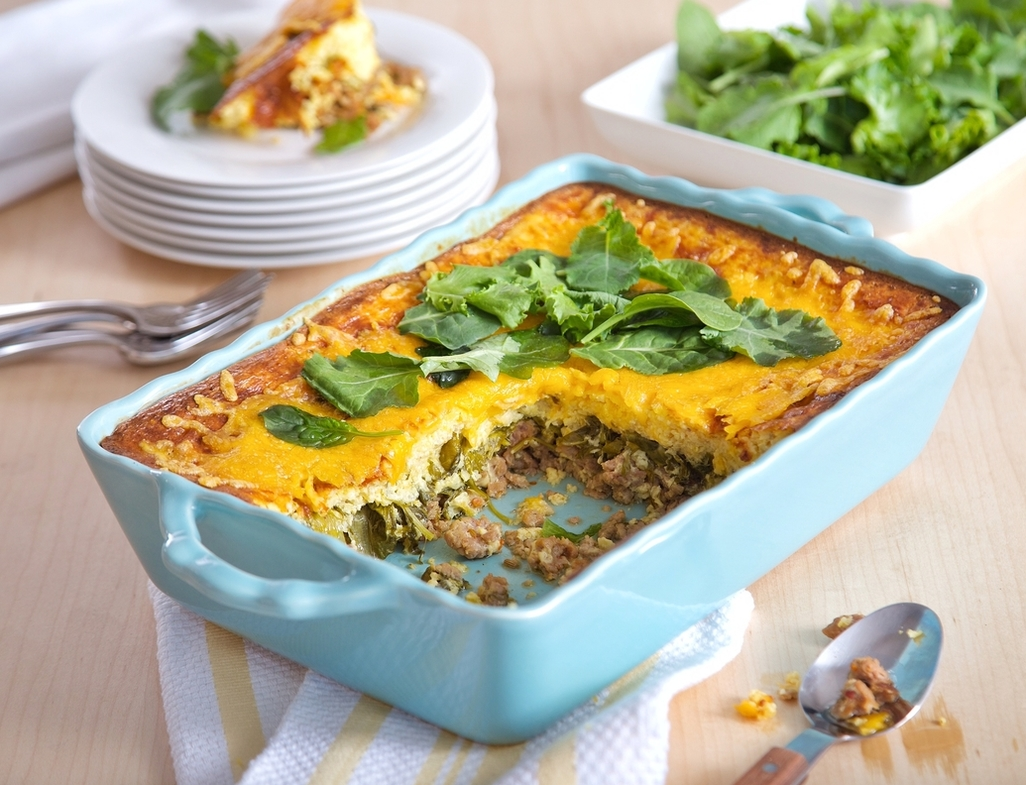 Cheesy grits casserole with sa