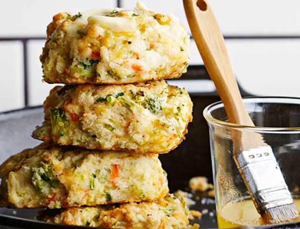Veggie skillet biscuits bhg