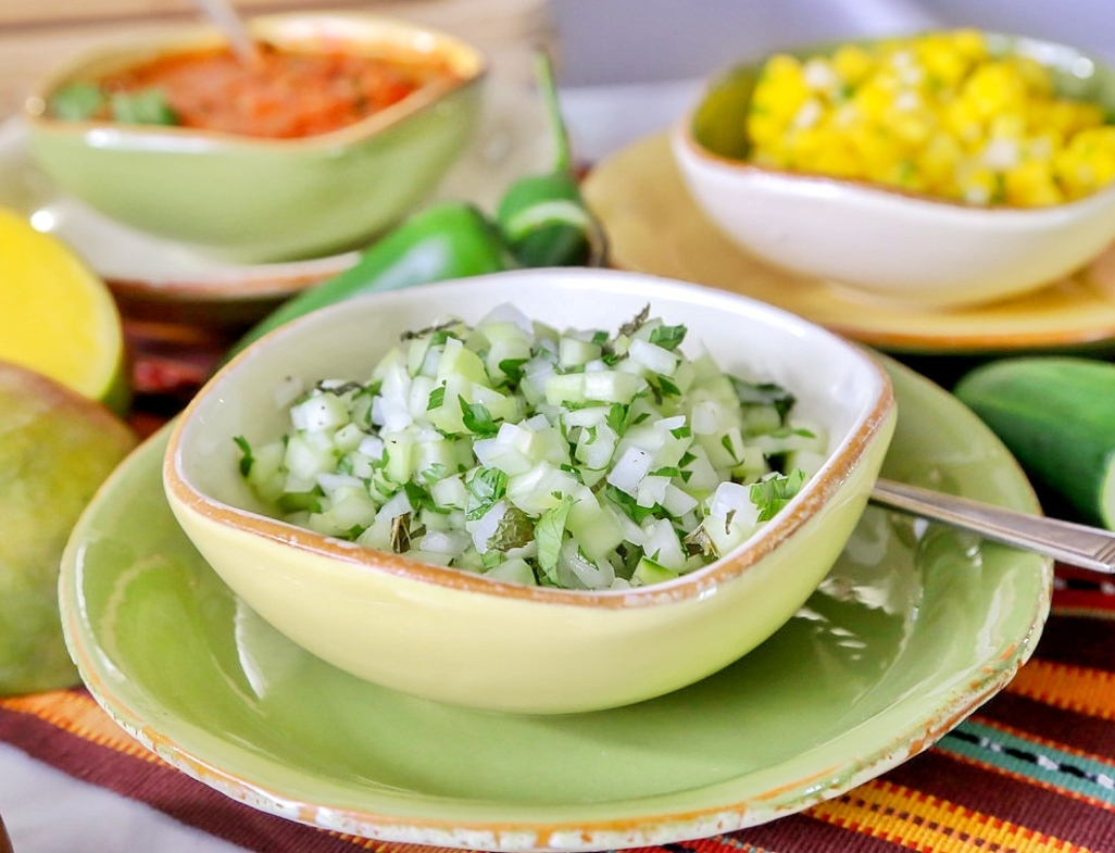 Cucumber mint salsa