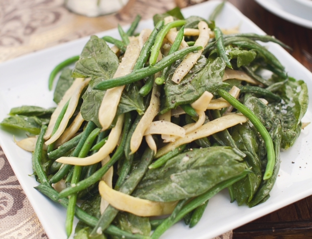 Champagne dijon beans with arugula web